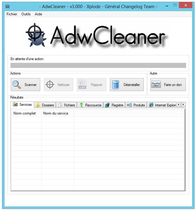 Supprimer aartemis avec Adwcleaner