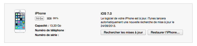Supprimer iOS7 en restaurant iOS6