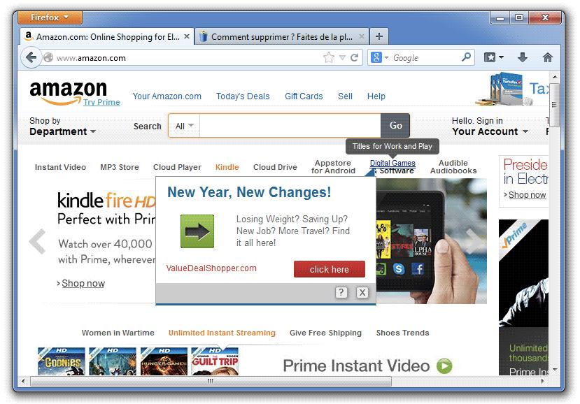 Exemple d'un lien publicitaire généré par Discount Dragon