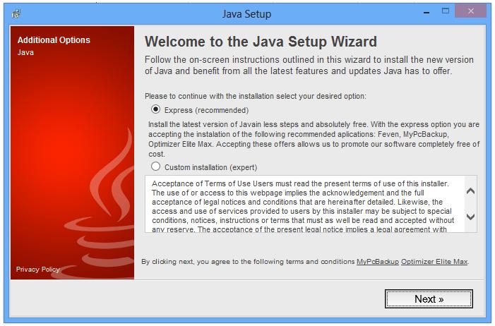 feven installé par une fausse mise à jour Java