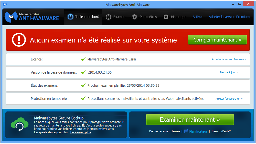 Comment supprimer Media Player avec malwarebytes anti-malware