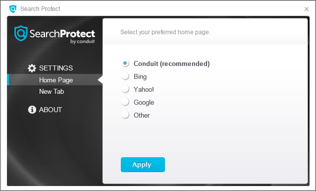 supprimer search protect by conduit search