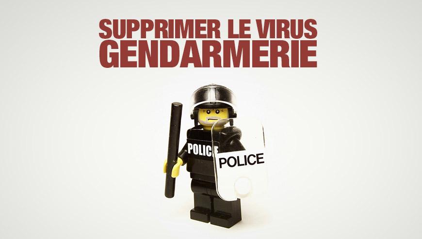 Supprimer le virus Gendarmerie