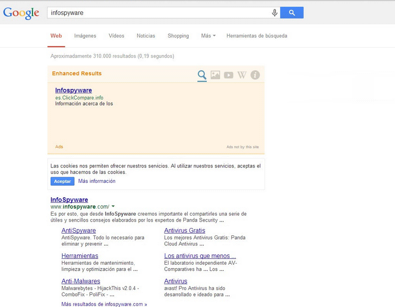 comment supprimer enhanced results sur google