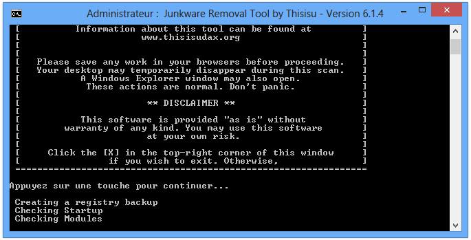 Comment supprimer Qone8 avec JRT