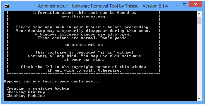 Comment supprimer Qone8 avec Junkware Removal Tool