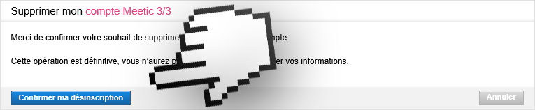 supprimer meetic étape 3