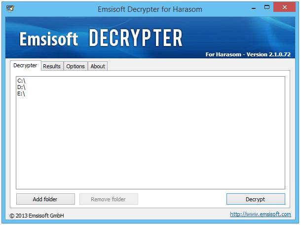 emisoft decrypter harasom