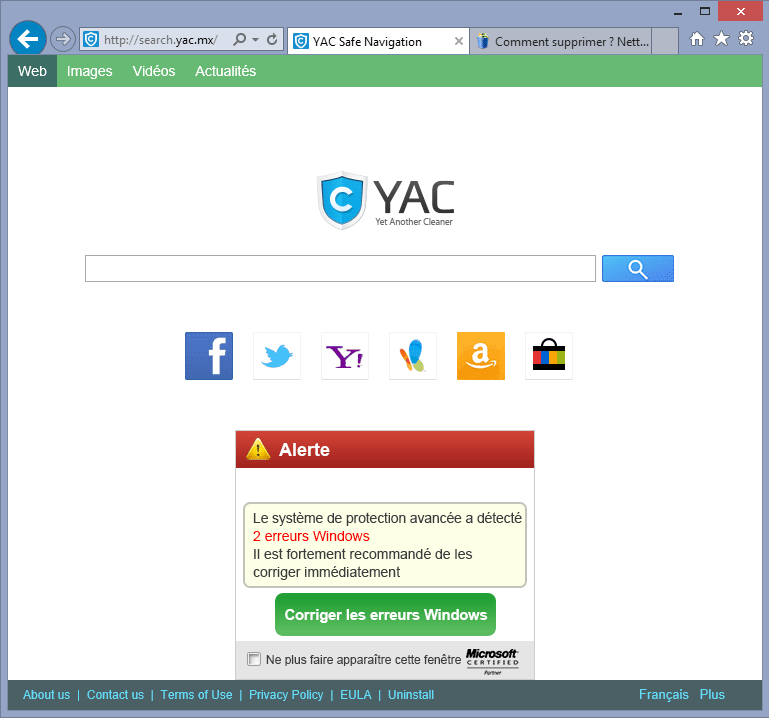 supprimer search.yac.mx