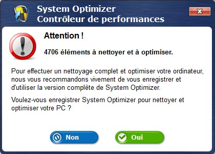 alerte de system optimizer