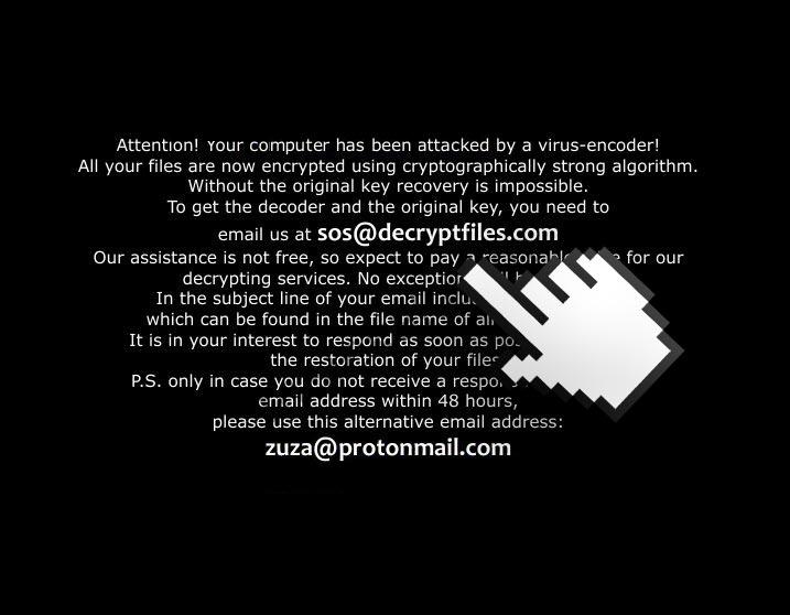 sos@decryptfiles.com zuza@protonmail.com