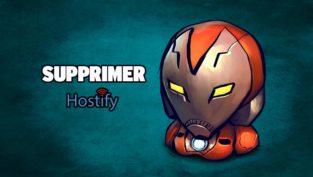 supprimer hostify