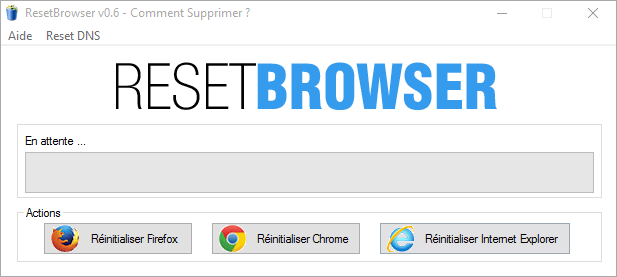 Comment supprimer start-pagesearch.com grâce à ResetBrowser